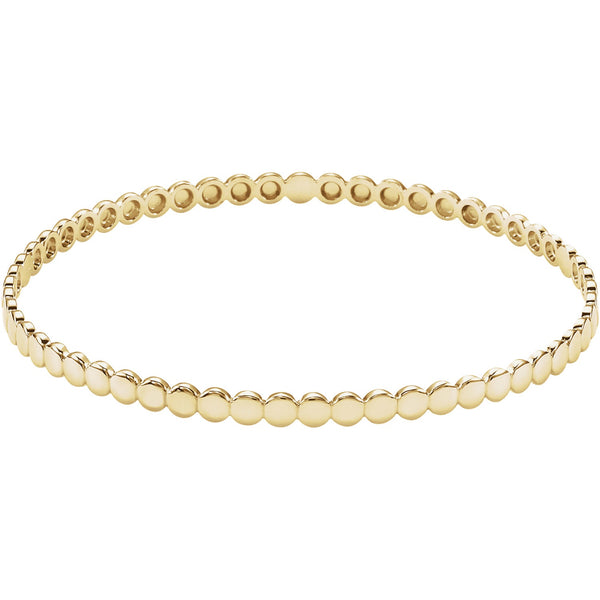 Circle Gold Bangle - Lauren Sigman Collection