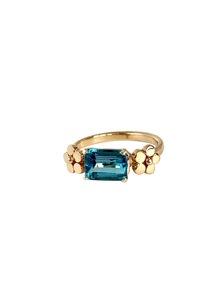 Cala Lily Blue Topaz Ring