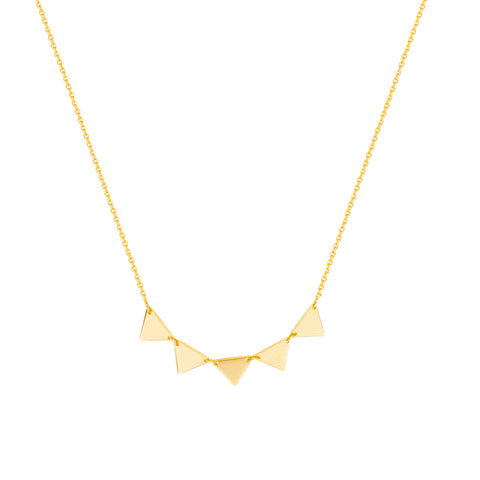 Mini Triangle Cluster Necklace - Lauren Sigman Collection