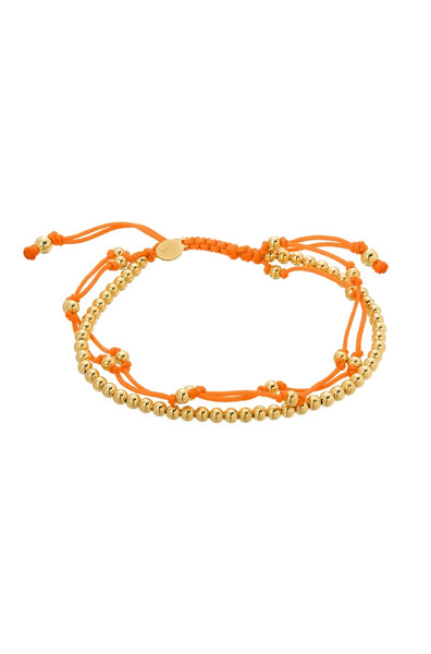 Orange Trio Furtune Bracelet - Lauren Sigman Collection