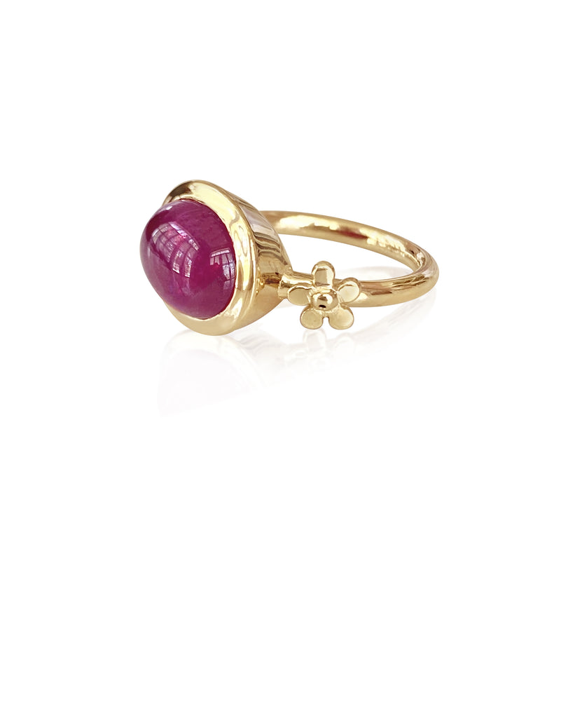 Pink Tourmaline Flower Ring/Size 9 - Lauren Sigman Collection