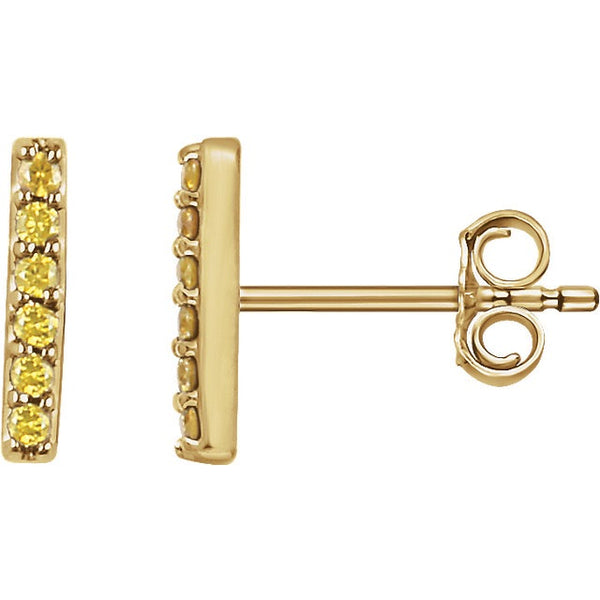 Yellow Diamond Bar Earrings - Lauren Sigman Collection