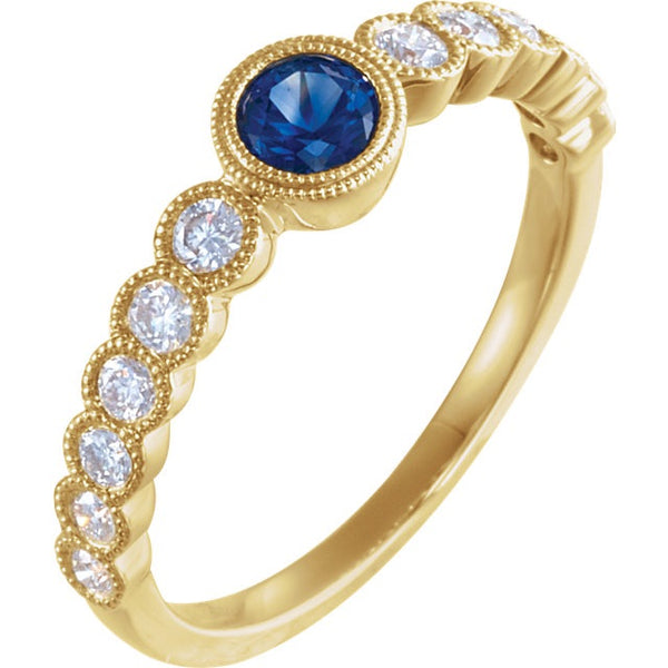 Blue Sapphire and Diamond ring - Lauren Sigman Collection
