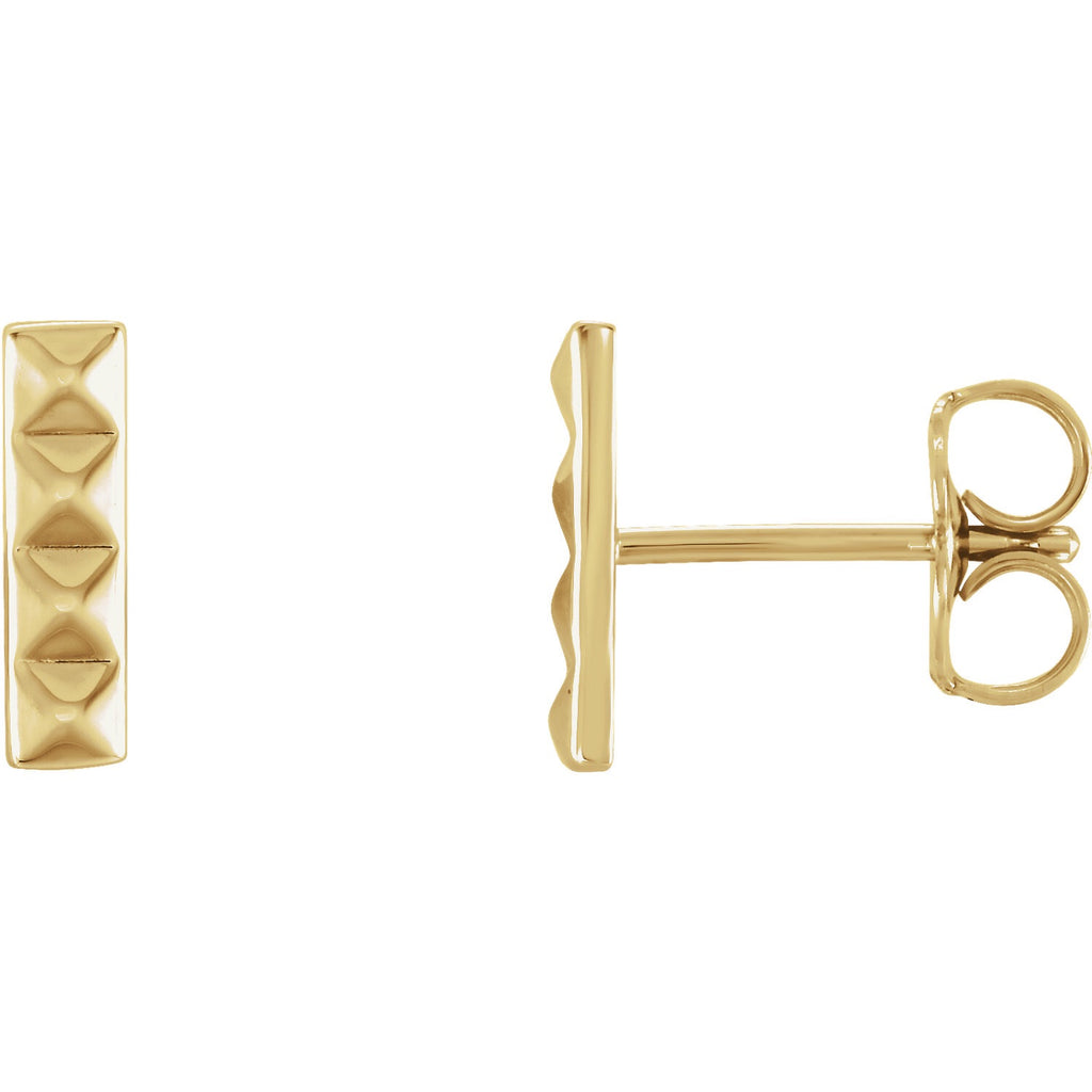 Pyramid Bar Stud Earrings - Lauren Sigman Collection