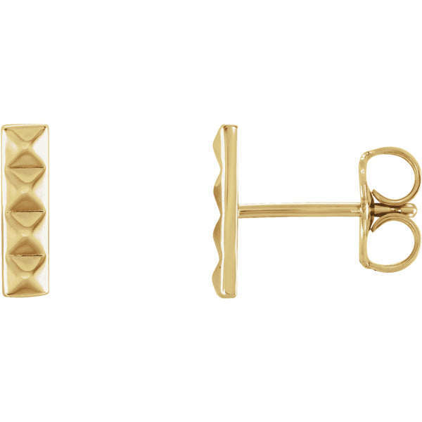 Pyramid Bar Stud - Lauren Sigman Collection