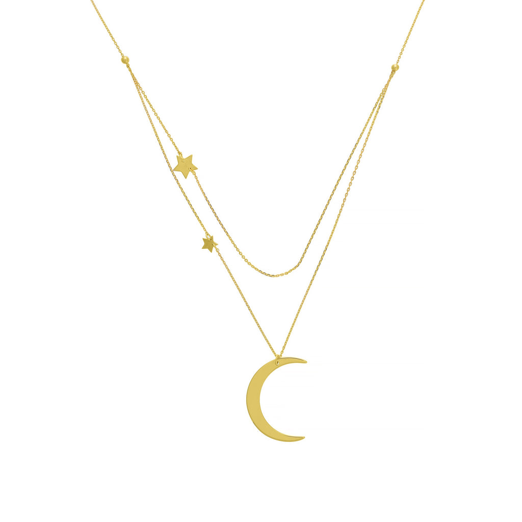 Moon and Stars Double Necklace - Lauren Sigman Collection