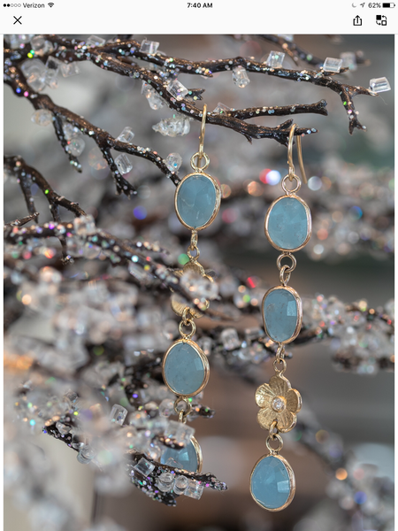 Aquamarine danglers - Lauren Sigman Collection