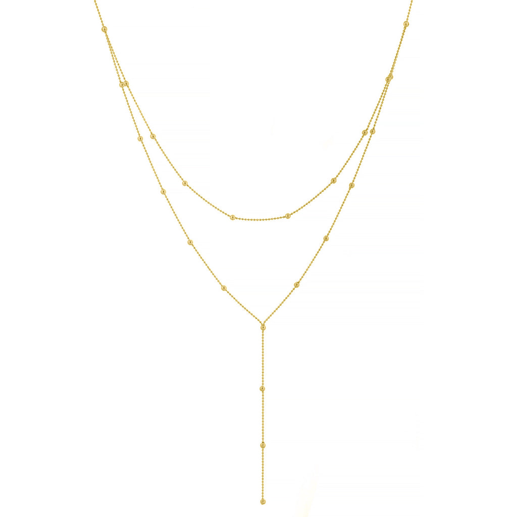 Double Beaded Chain Necklace - Lauren Sigman Collection
