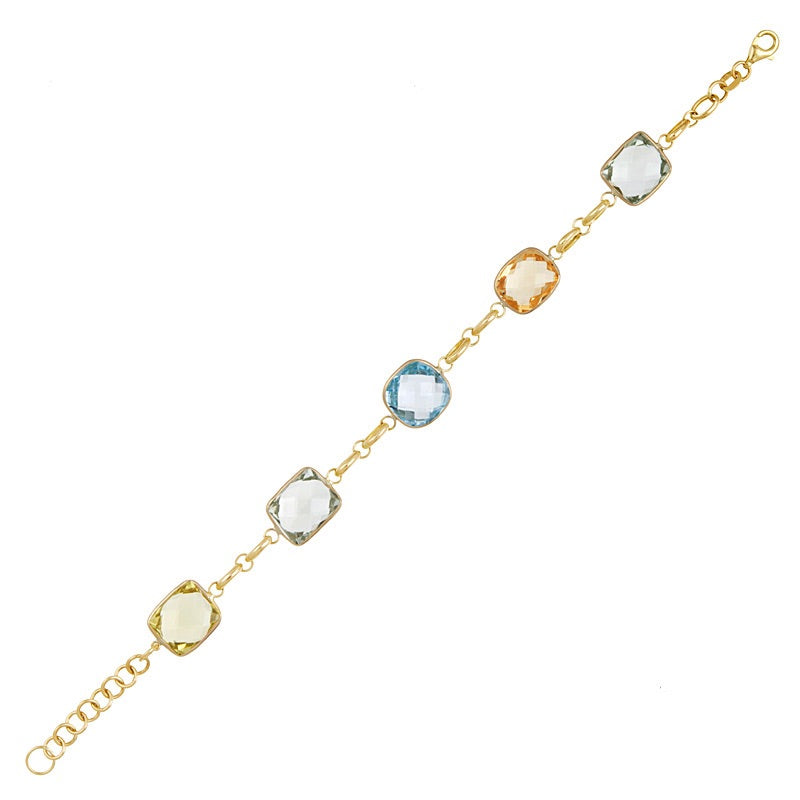 Large Multi Gemstones Bracelet - Lauren Sigman Collection