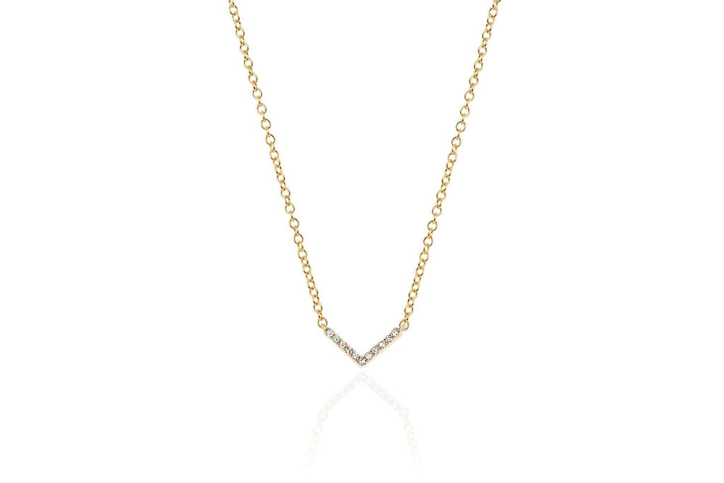 Mini Chevron Diamond Necklace - Lauren Sigman Collection