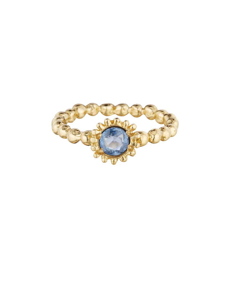 Small Sweet Pea Ring with Blue Sapphire - Lauren Sigman Collection