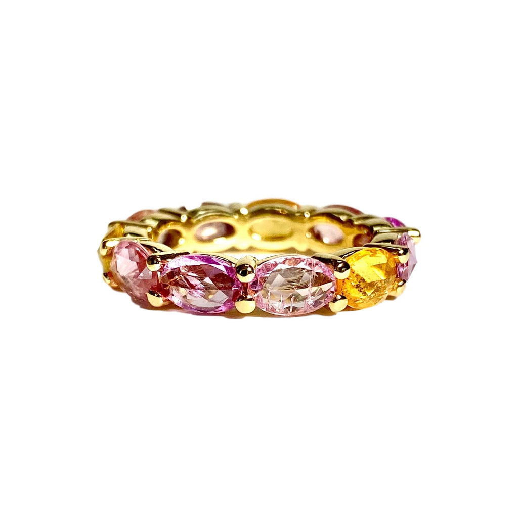 Pink & Yellow Sapphire Poppy Band - Lauren Sigman Collection