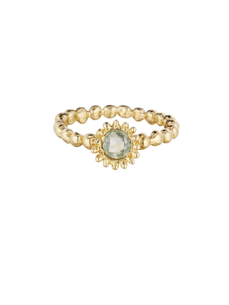 Small Sweet Pea Ring with Green Sapphire - Lauren Sigman Collection