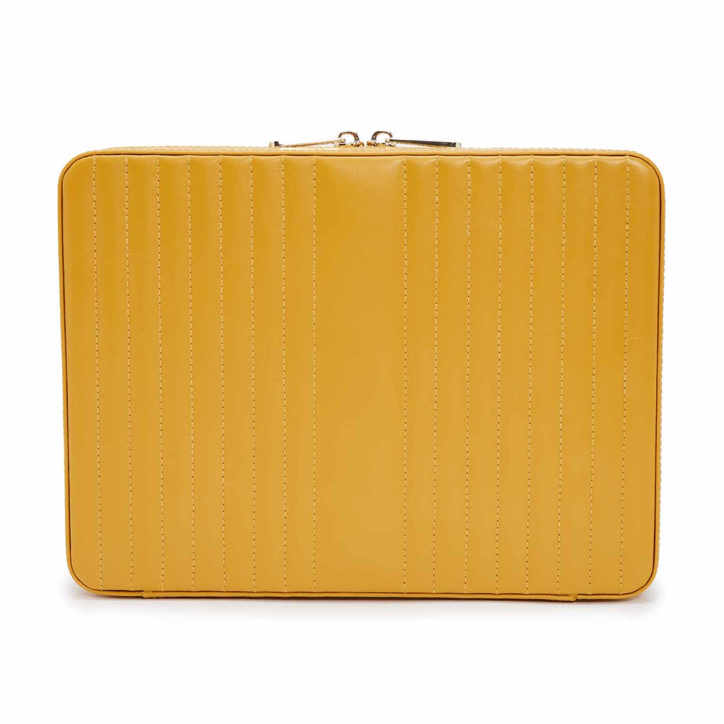 Maria Large Zip Case (Mustard) - Lauren Sigman Collection