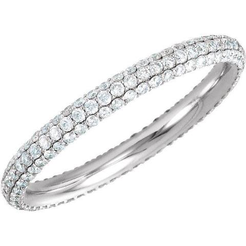 Diamond Pave Eternity Band - Lauren Sigman Collection