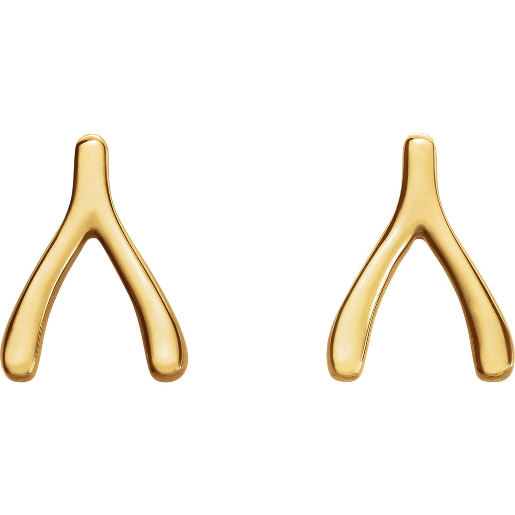 Wishbone Stud Earrings - Lauren Sigman Collection