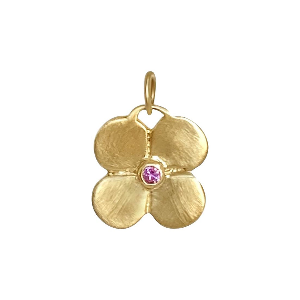 Puffy Flower Pendant with Pink Sapphire - Lauren Sigman Collection