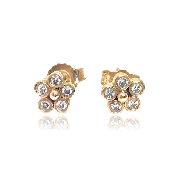 Diamond Lilac Stud Earrings - Lauren Sigman Collection