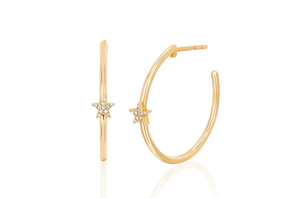 Diamond Star Hoops - Lauren Sigman Collection