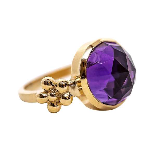 Gerber and Diamond Ring/Amethyst - Lauren Sigman Collection