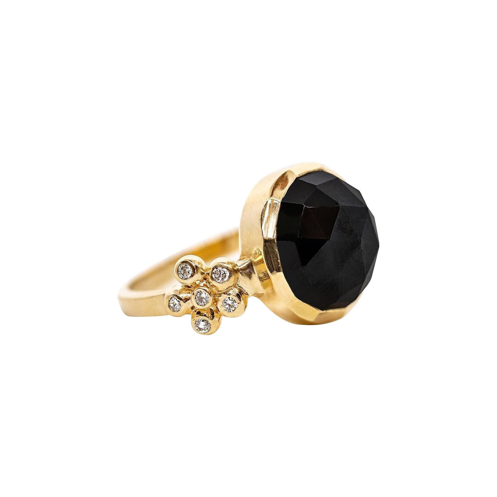 Gerber Ring with Black Spinel - Lauren Sigman Collection