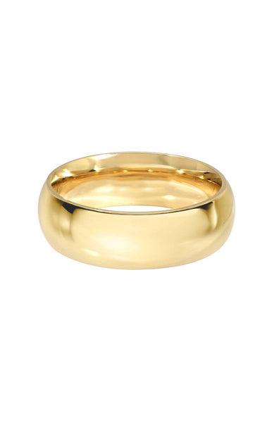 Wide Domed Gold Band - Lauren Sigman Collection