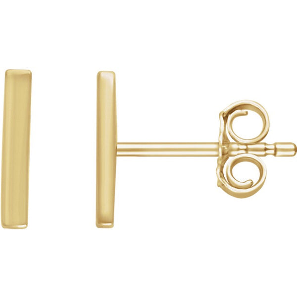 Gold Bar Stud Earrings - Lauren Sigman Collection