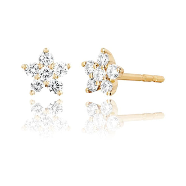 Diamond Flower Stud Earrings - Lauren Sigman Collection