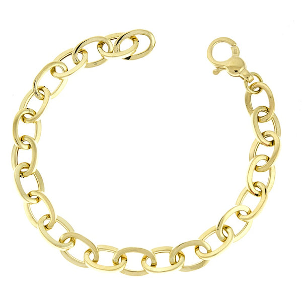 Square Edge Oval Link Charm Bracelet - Lauren Sigman Collection