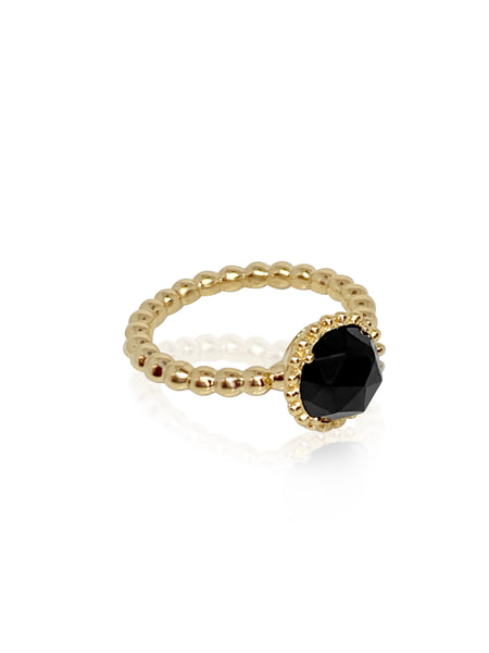 Large Sweet Pea Ring/Black Spinel - Lauren Sigman Collection