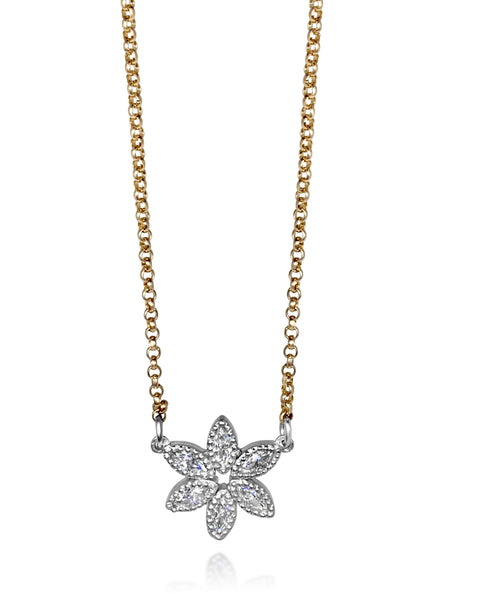 Beaded Tuberose Necklace/Moissanite - Lauren Sigman Collection