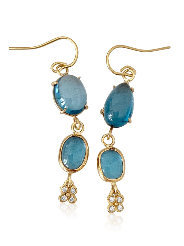 Blue Topaz & Diamond Lilac Flowers - Lauren Sigman Collection