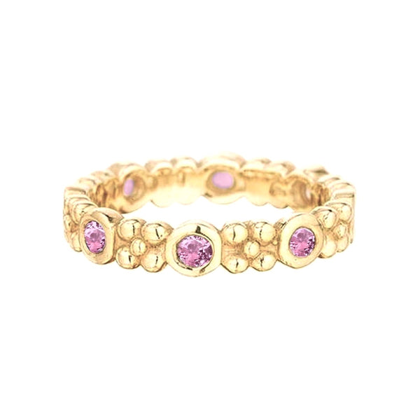 Wildberry Band in 18k Gold with Pink Sapphires - Lauren Sigman Collection