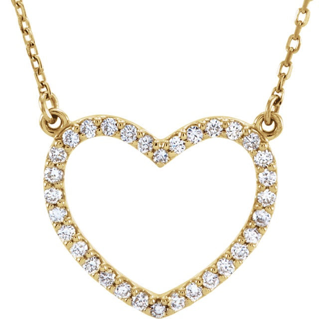 Diamond Heart Necklace - Lauren Sigman Collection