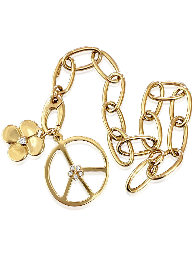 Oval Chain Link Charm Bracelet - Lauren Sigman Collection