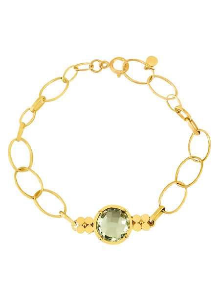 Gemstone Chain Bracelet-Green Amethyst - Lauren Sigman Collection