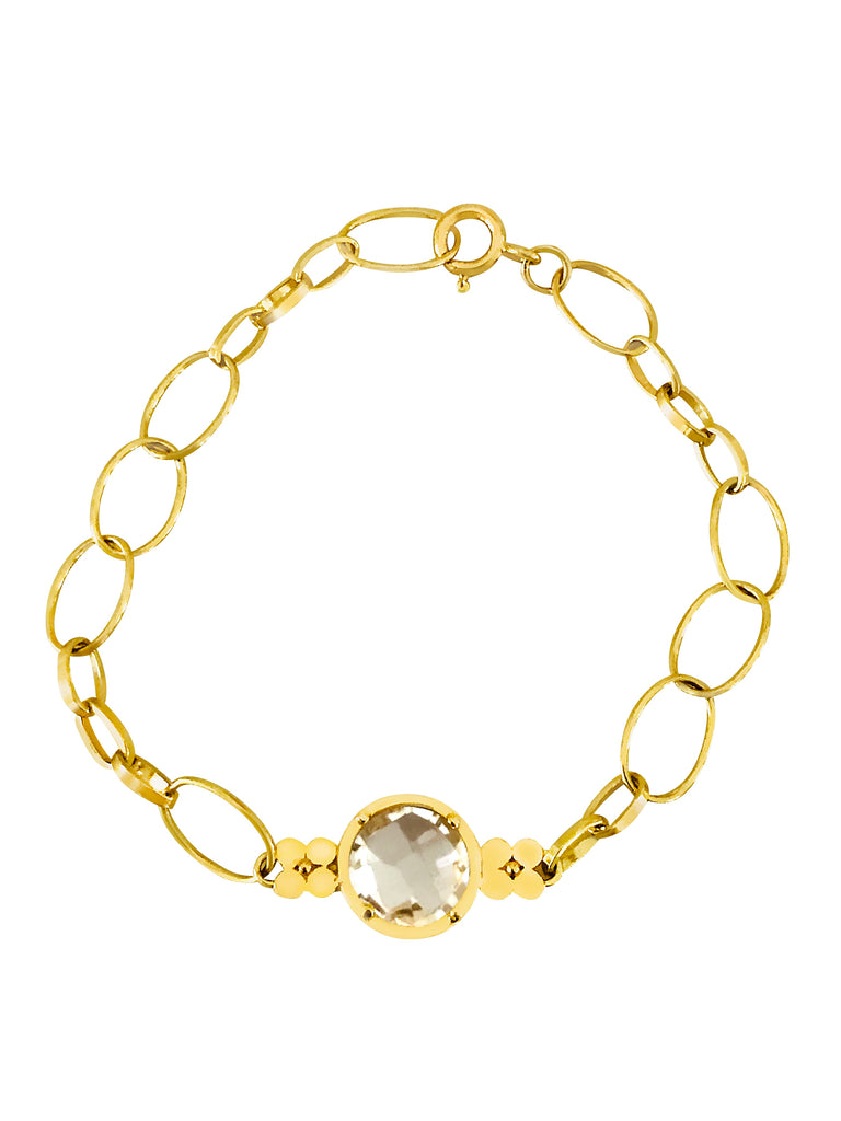 Gemstone Chain Bracelet-White Topaz - Lauren Sigman Collection