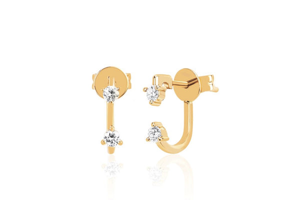 Double Prong Set Diamond Earrings - Lauren Sigman Collection