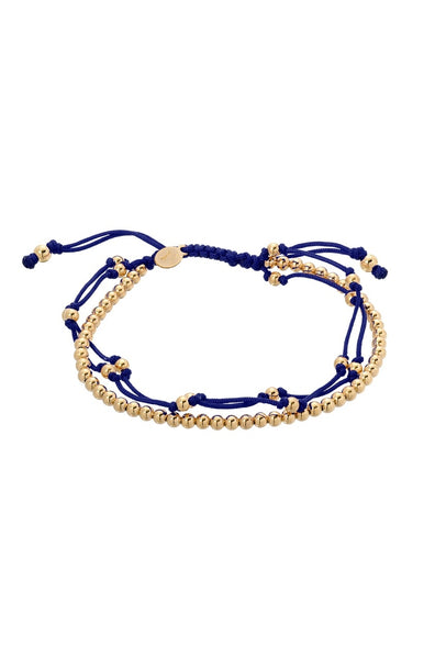 Navy Blue Trio Furtune Bracelet - Lauren Sigman Collection