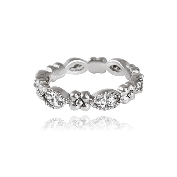 Iris Marquis Band in 18k White Gold - Lauren Sigman Collection