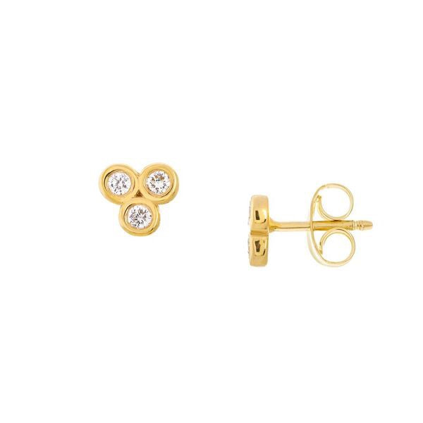 Trinity Diamond Stud Earrings - Lauren Sigman Collection