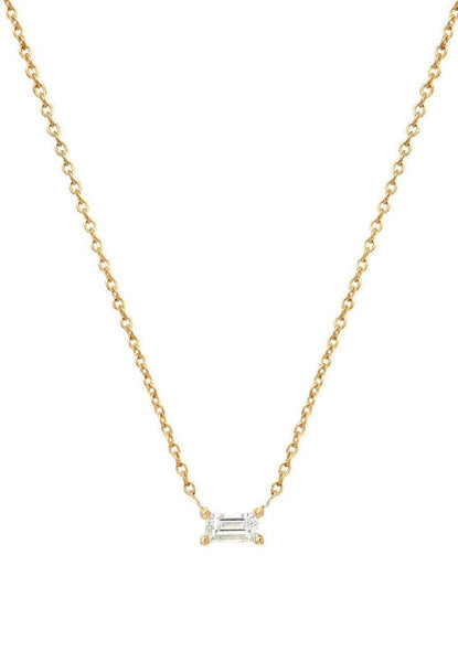 Diamond Baguette Necklace - Lauren Sigman Collection