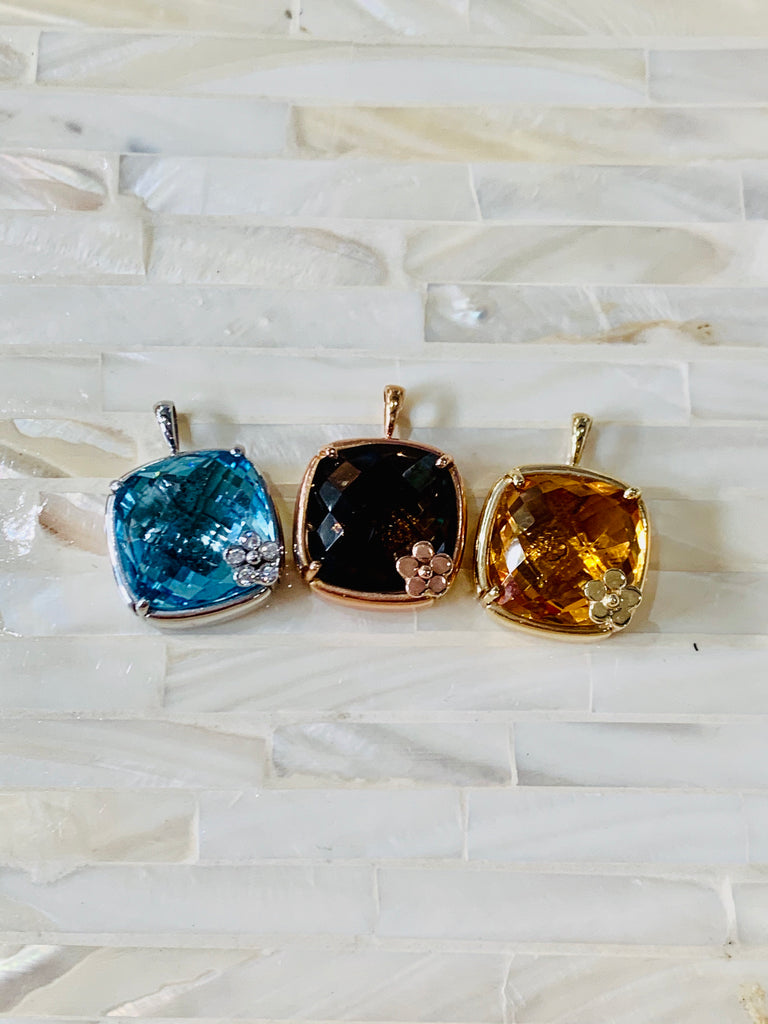 Large Gemstone Pendants - Lauren Sigman Collection