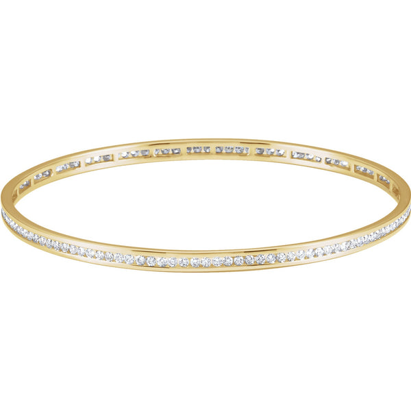 Diamond Channel Set Bangle - Lauren Sigman Collection