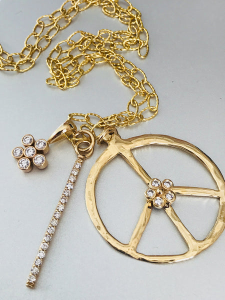 Peace Charm Necklace - Lauren Sigman Collection
