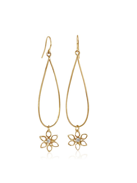Poinsettia Diamond Hanging Earrings - Lauren Sigman Collection