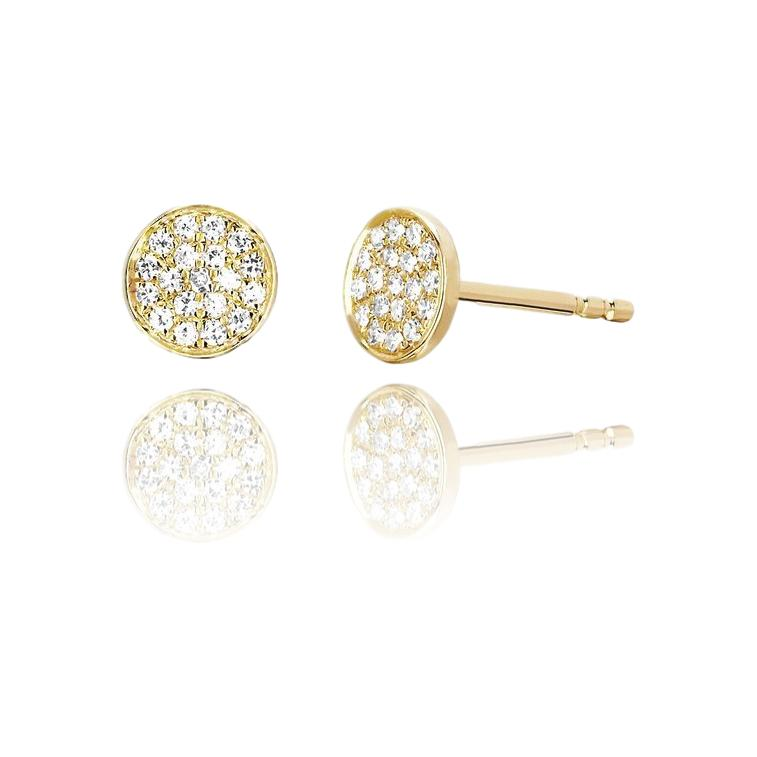 Small Diamond Disk Studs - Lauren Sigman Collection