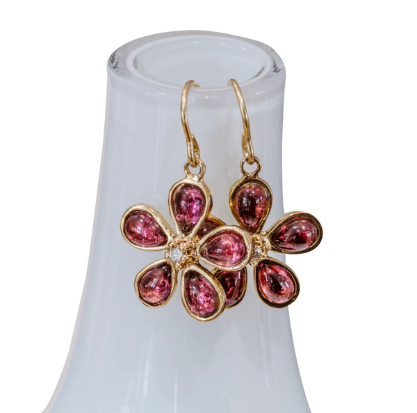 Orchid and Diamond Earrings - Lauren Sigman Collection