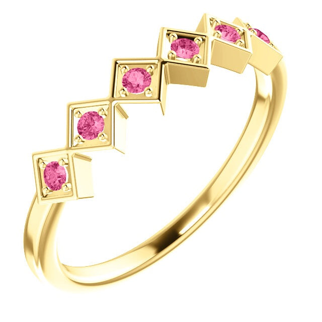 Pink Sapphire Stacking Band - Lauren Sigman Collection