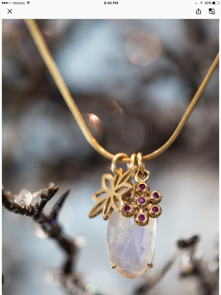 Moonstone charm necklace - Lauren Sigman Collection